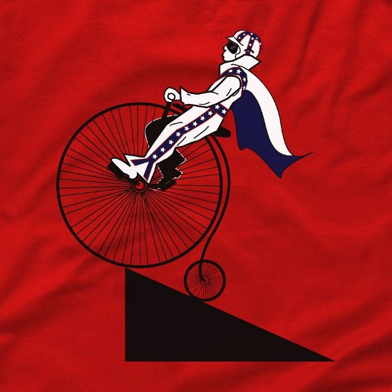 evil knievel t shirt Evil Knievel Bicycle Jump T Shirt