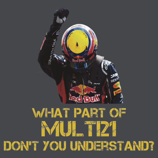 multi21 t shirt Multi21 Mark Webber Sebastian Vettel Formula One Racing T Shirt