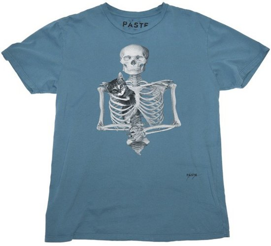 skeleton-with-kitty-t-shirt