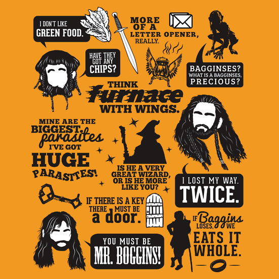 the hobbit quotes t shirt The Hobbit Quotes T Shirt