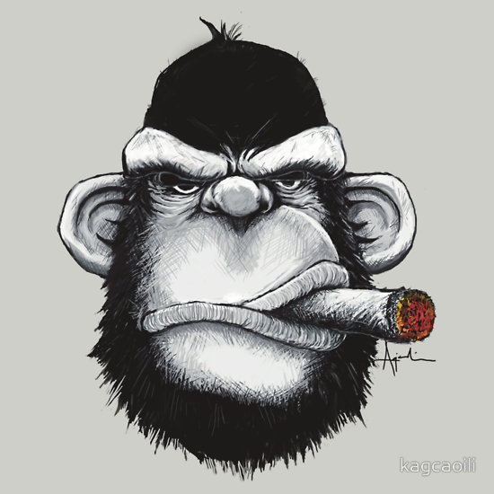 cigar-monkey-t-shirt