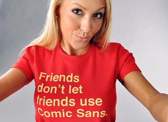 friends dont let friends use comic sans t shirt Friends Dont Let Friends Use Comic Sans T Shirt