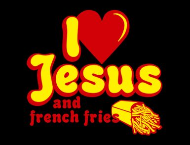 i love jesus and french fries t shirt I Love Jesus and French Fries T Shirt