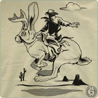 jackalope bronco t shirt Jackalope Bronco T Shirt