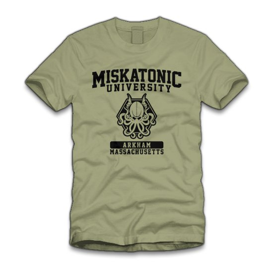 miskatonic university arkham massachusetts t shirt Miskatonic University T Shirt