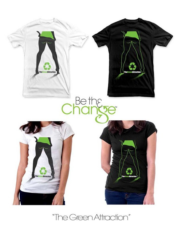 the green attraction t shirt Be Th3 Change Kickstarter