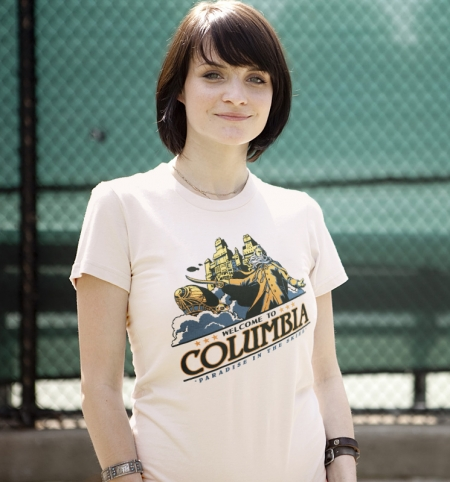 bustedtees columbia paradise in the skies Columbia   SteamPunk Air City | Paradise in the Skies