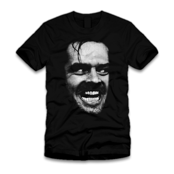 heres johnny five finger tees Heres Johnny! T Shirt from the Shining Movie