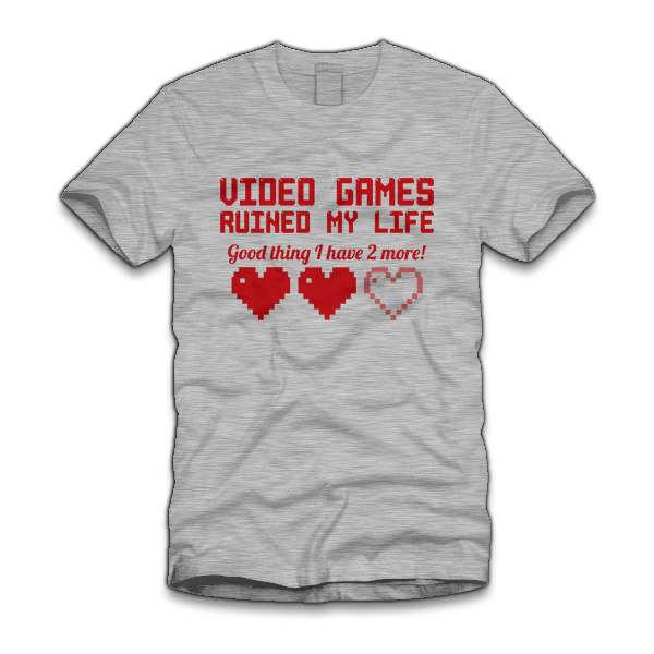 video games ruined my life five finger Video Games Ruined My Life T Shirt from Five Finger Tees