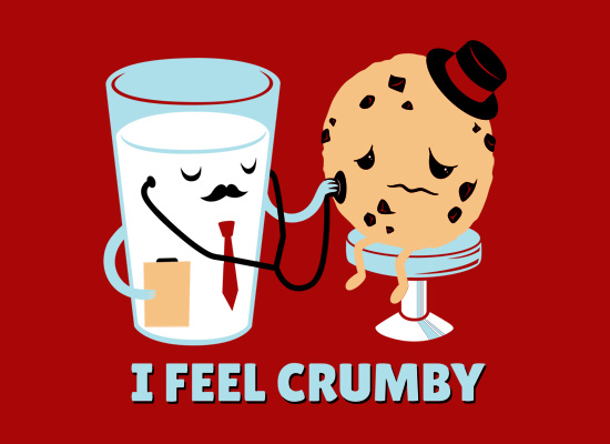 i feel crumby red fullpic I Feel Crumby T Shirt $5 Off this Week Only